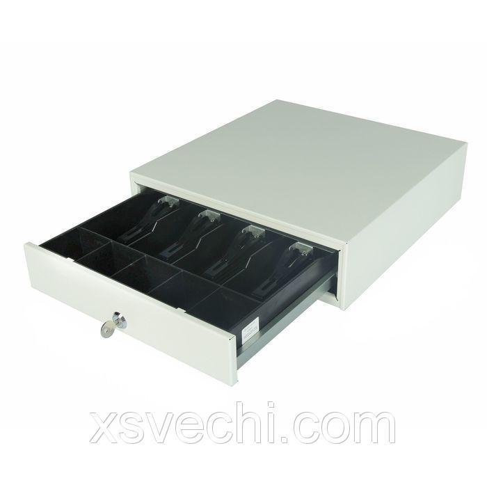 Денежный ящик ШТРИХ-midiCD, 4 отделения для банкнот, 5 отделений для монет, цвет белый