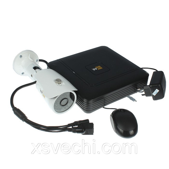 Комплект видеонаблюдения SVIP-Kit201S, IP, 1080Р (FullHD), 1 уличная камера