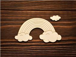 Радуга и облака с гравировкой