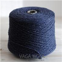 Пряжа City, 001 Сапфир, 191м/50г, шерсть ягнёнка, шёлк, Vaga Wool