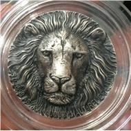Лев 5 унций серебряная монета 5000 франков Кот-д'Ивуар 2016