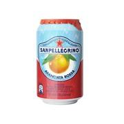 Упаковка газированного сокосодержащего напитка SanPellegrino Aranciata Rossa (красный апельсин) 0,33 в банке - 24 шт.