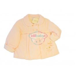 Пальто для девочки велюровое (розовое)