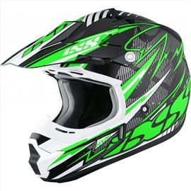 Шлем кроссовый HX 261 THUNDER зеленый M