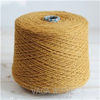 Пряжа City, 025 Французская горчица, 191м/50г, шерсть ягнёнка, шёлк, Vaga Wool