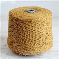 Пряжа City 025 Французская горчица 144м/50гр., шерсть ягнёнка, шёлк, Vaga Wool