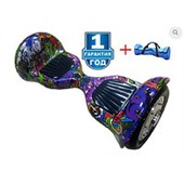 Гироскутер Smart Balance SEV 10 дюймов APP+Balance граффити фиолетовый