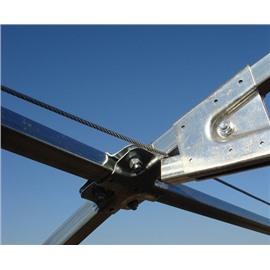 4.Система подвеса для теплицы длиной 10 метров