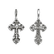 Крест серебряный  № 03063, серебро 925°