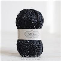 Пряжа Lama Tweed Чёрный 6999, 100м/50г, CaMaRose, Sort