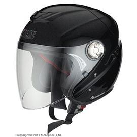 Открытый шлем с большим стеклом HX91 чёрный матовый 2XL