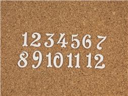 Набор цифр от 1 до 12 (5)