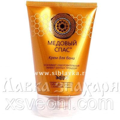 Крем для бани «Медовый спас» с барсучьим жиром, медом, экстрактом березовых почек