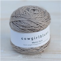 Пряжа Merino Sock solid Песок, 160м/50г., Cowgirlblues, Sable