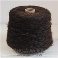 Пряжа Lilu  Коричневый  из сури альпака 130м/50гр Lama Lima
