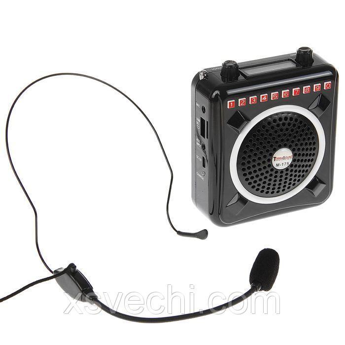 Мегафон поясной TerraSound М-175, 8 Вт, MP3, FM, запись