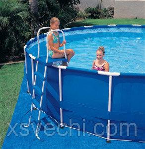 Лестница для бассейна Intex 28063   58975, 132 см