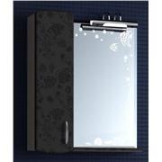 Зеркальный шкафчик чёрный шёлк улыбка-55