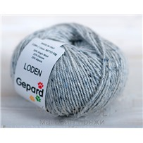 Пряжа Gepard Garn Loden 591 Light grey (серый светлый), 110м/50гр