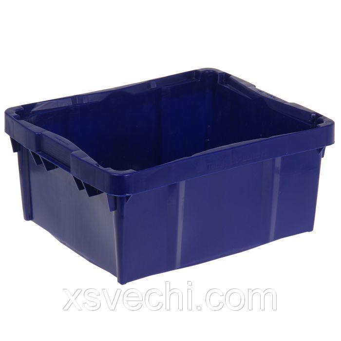 """Ящик п/э 30 л """"Тетра-брик"""", морозостойкий, размер 48х39,2х22 см, цвет синий"""