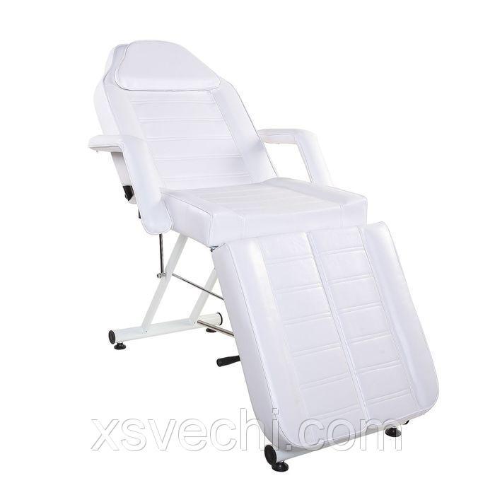 Кресло педикюрное 188*72*65, гидравлика, цвет белый, хром