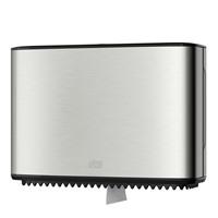 Диспенсер Tork для туалетной бумаги в мини рулонах в алюминиевом корпусе 460006
