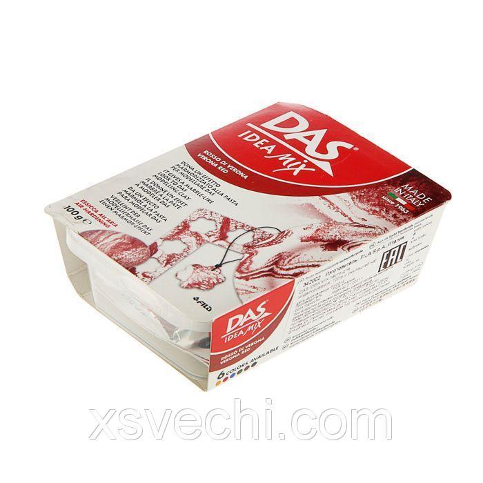 Паста для лепки и моделирования самозатвердевающая DAS IDEA Mix 100 г имитация натурального камня verona red 342002
