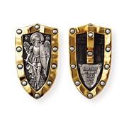 08229 Образок «Архангел Михаил», серебро 925° с позолотой