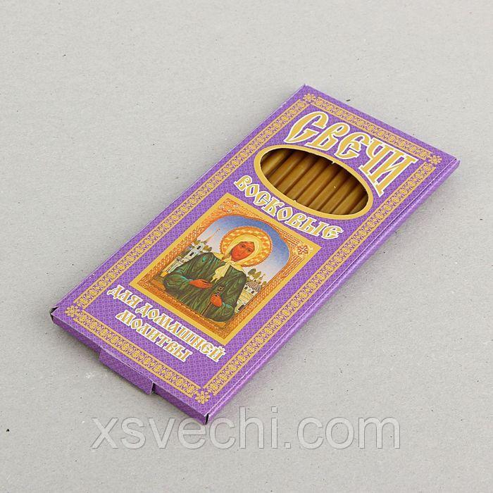 Свечи церковные восковые для домашней молитвы к святой блаженной Ксении Петербургской, 12 шт. в упаковке