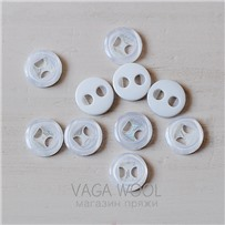 Пуговица 15 мм, Белый глянец, пластик, арт. 2805