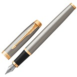 Ручка перьевая Parker IM Core Brushed Metal GT 1931649