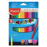 Карандаши цветные трехгранные Maped Color'Peps 18 цветов 183218