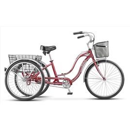 Велосипед Stels Energy Il 26 (2016) Белый/Зеленый (с корзиной) , интернет-магазин Sportcoast.ru