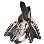 Набор маска,трубка,ласты WAVE MSF-1390S65F69 силикон,черный (р.39-41)