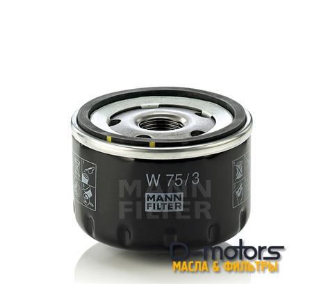 Фильтр Масляный Mann W75/3 Для Renault