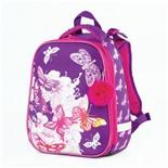 Ранец для девочек Brauberg Premium Бабочки с брелоком 17 л 227811