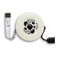 Сантиметр-рулетка с магнитом на шнурке Чёрный цветок , KA Seeknit, Black flower 06428
