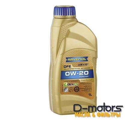 Моторное масло Ravenol DFE 0W-20 (1л.)
