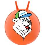 """Мяч-попрыгун """"Медвежонок"""" GB-403, 65 см, с рожками, оранжевый"""
