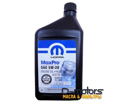 Моторное масло Mopar Maxpro 5w-20 (0,946л)