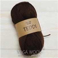 Пряжа Teddi, Коричневый 10302, 110м в 50г, альпака, Перу