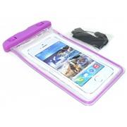 Чехол водонепроницаемый светящийся для мобильных телефонов фиолетовый