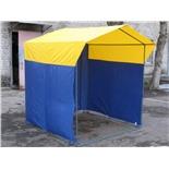 Палатка торговая Митек Домик 2,5х1,9 (разборная) (2 места) (Зеленый/Желтый)