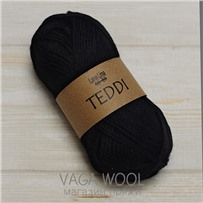 Пряжа Teddi, Черный 10500, 110м в 50г, альпака, Перу