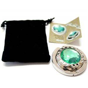 Держатель-крючок для сумок с зеркалом Mirror Миррор (зеленый), Любая женщина придет в восторг от такого подарка!