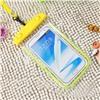 Чехол водонепроницаемый светящийся для мобильных телефонов желтый