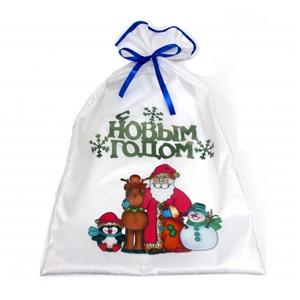 Новогодний мешок для подарков 40х70 см. С Новым Годом