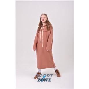 Удлиненное спортивное худи цвета Camel