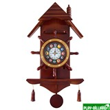 Weekend Часы настенные «Избушка» 33 см х 66 см, деревянные, интернет-магазин товаров для бильярда Play-billiard.ru