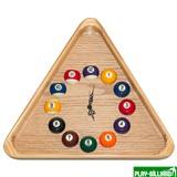 Longoni Часы треугольные с шарами, интернет-магазин товаров для бильярда Play-billiard.ru
